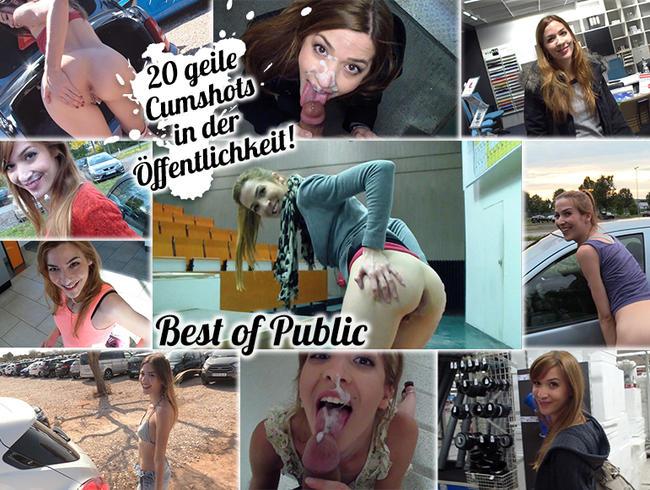 Video Thumbnail Best of PUBLIC! 20x in der Öffentlichkeit das Sperma geholt! CUMPILATION