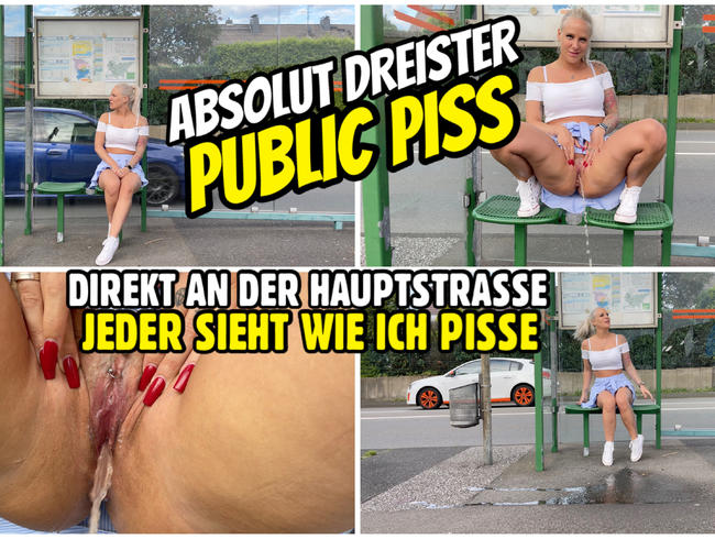 Video Thumbnail PUBLIC PISS an der Hauptstrasse | JEDER schaut mir dabei zu