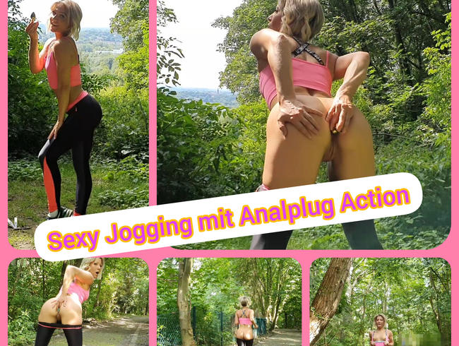 Video Thumbnail Sexy Jogging mit Analplug Action