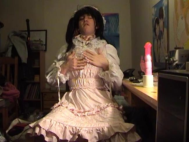 Video Thumbnail Sweet Gothic Girl spritzt ab