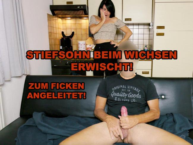 Video Thumbnail STIEFSOHN BEIM WICHSEN ERWISCHT, ZUM FICKEN ANGELEITET