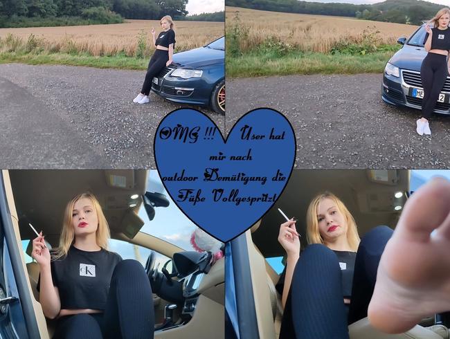 Video Thumbnail OMG!!! User hat mir nach outdoor Demütigung die Füße vollgespritzt!!!