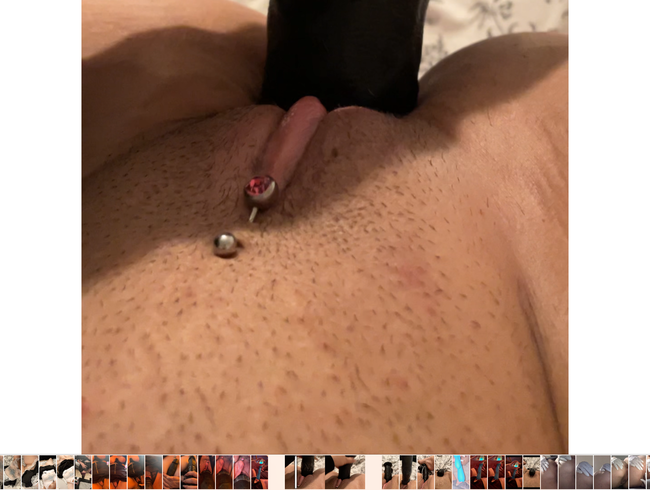 Video Thumbnail Fetter schwarzer vibrator in kleiner engen tenny pussy