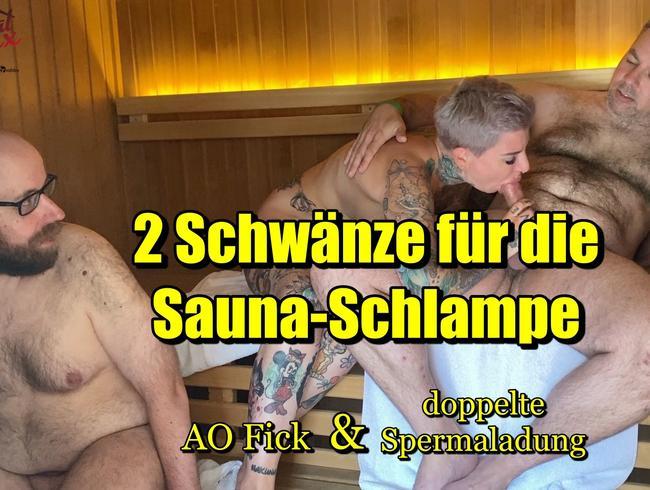 Video Thumbnail 2 Schwänze für die Sauna-Schlampe