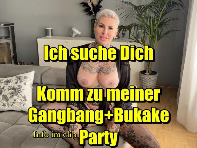 Video Thumbnail Ich suche Dich komm zu meiner Gangbang Bukake Party