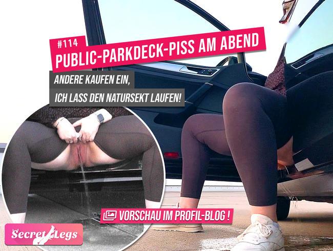 Video Thumbnail Public-PARKDECK-PISS am Abend - Andere kaufen ein, ich lass den Natursekt laufen !