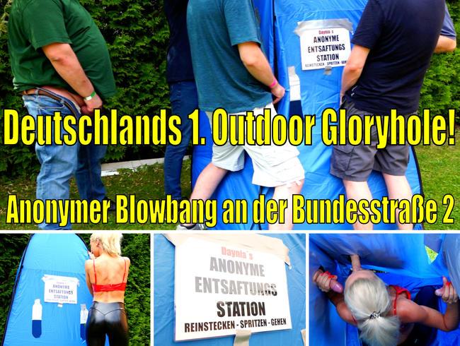 Daynia - Deutschlands 1. Outdoor Gloryhole | Anonymer Blowbang an der Bundesstrasse 2!