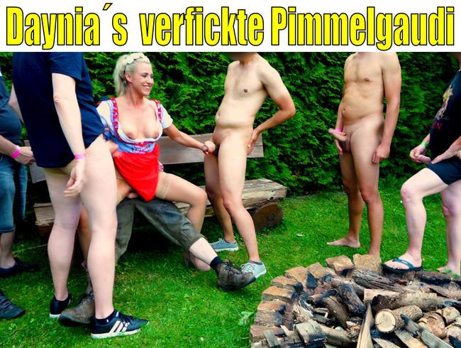 Daynia - Daynia´s verfickte Pimmelgaudi | SpermaFickorgie für die Dirndlschlampe...!