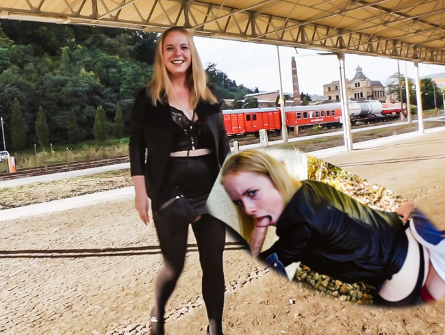 Mia_Adler - 3Lochstute am Bahngleis von 2 Schwänzen zerfickt!
