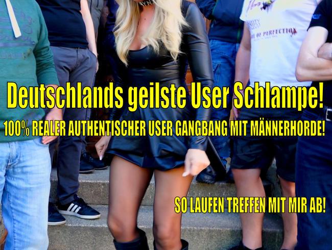 Video Thumbnail Deutschlands geilste User Schlampe | 100% echter authentischer Sperma Gangbang mit Männerhorde!