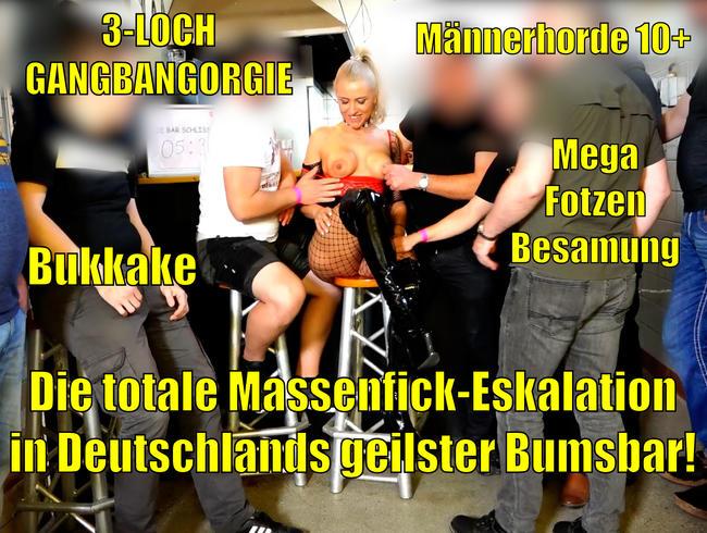 Video Thumbnail Die totale Massenfick Eskalation in Deutschlands geilster Bumsbar | 10+ Gangbang incl. Bukkake+ANAL