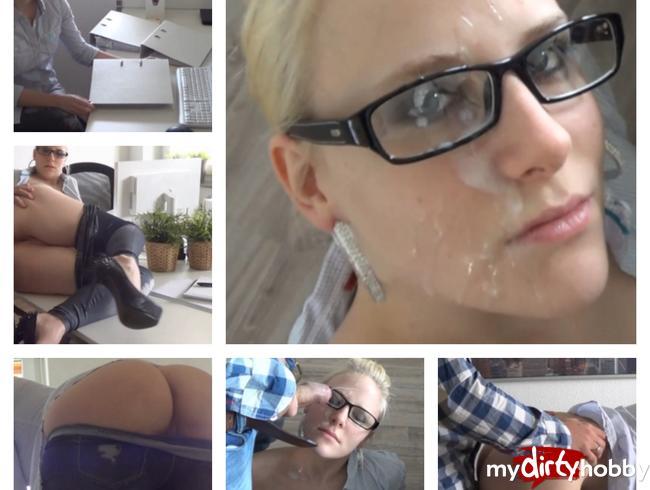 Video Thumbnail Chef hat mich im Büro benutzt und auf Brille gespritzt